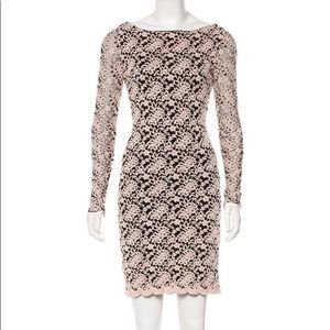 Alice + Olivia Khloe Lace Crochet Backless Dress